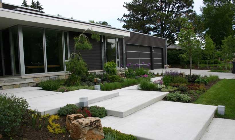 طراحی فضای سبز منزل ایرانی