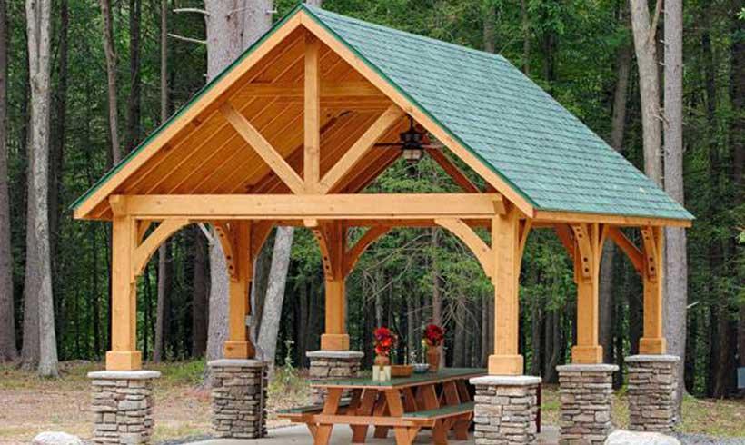 آلاچیق چوبی برای روف گاردن
