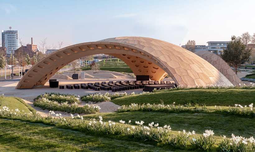 آلاچیق چوبی برای پارک