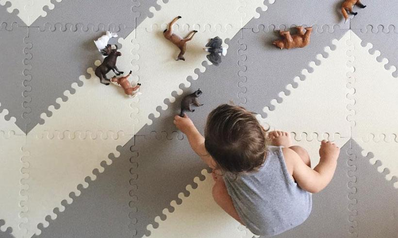 مدل موکت تایل اتاق کودک