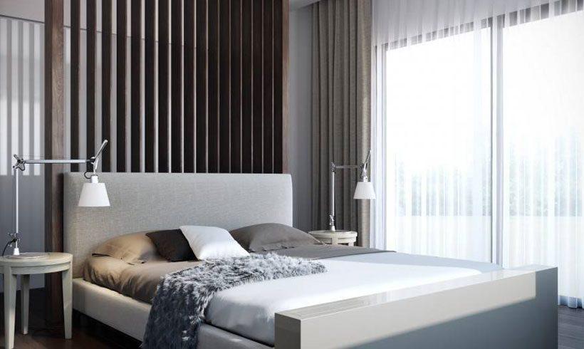 طراحی دکوراسیون اتاق خواب کوچک دو نفره