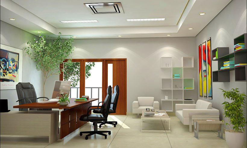 طراحی داخلی اتاق کار خانگی
