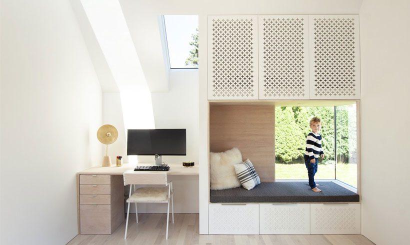 دیزاین اتاق کار ساده در خانه