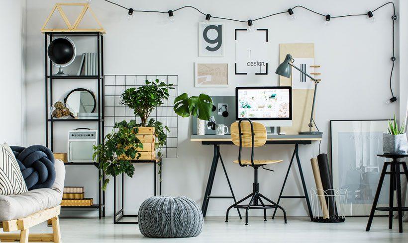 طراحی دکوراسیون لاکچری اتاق کار در خانه