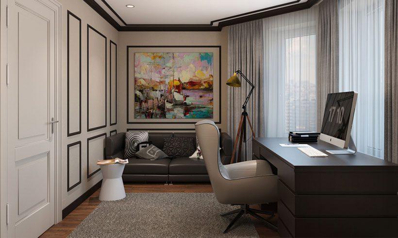 دکوراسیون داخلی اتاق کار در خانه