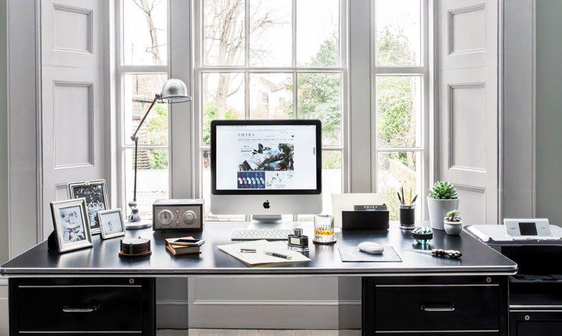 دیزاین ساده اتاق کار منزل