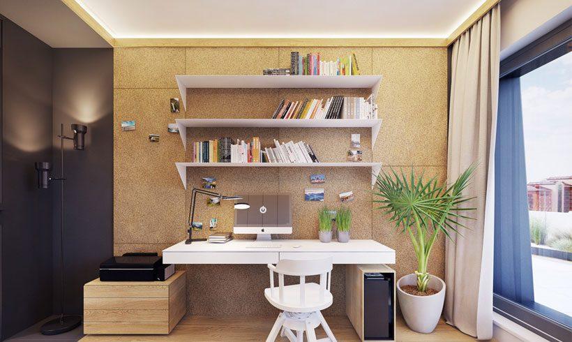 دکوراسیون داخلی اتاق کار خانگی