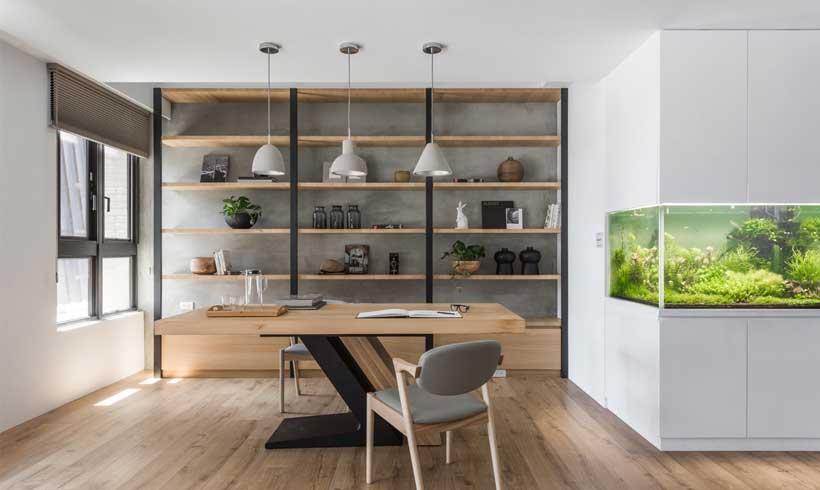 طراحی دکور اتاق کار شیک در خانه