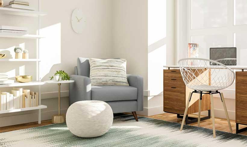 اتاق کار ساده و کوچک در منزل