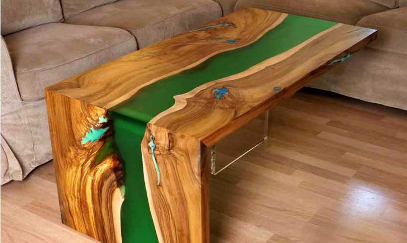 میز چوبی رزین اپوکسی