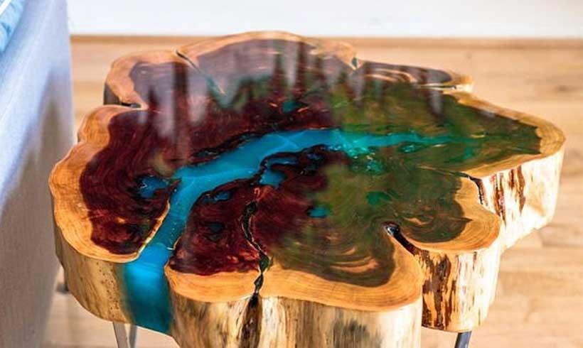 رزین اپوکسی و چوب