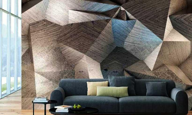 کاغذ دیواری سه بعدی پذیرایی