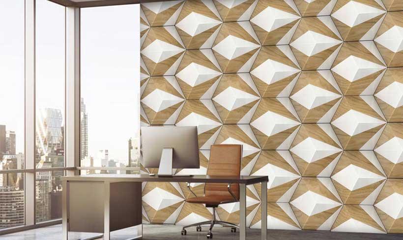 کاغذ دیواری سه بعدی مینیمال