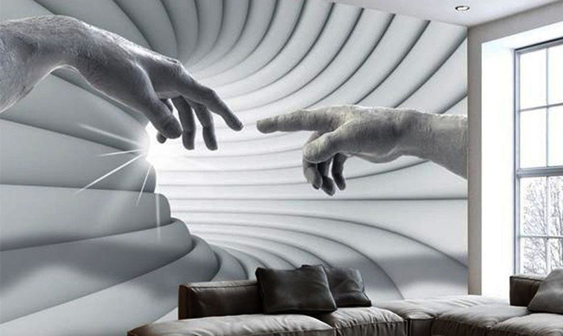 کاغذ دیواری سه بعدی شیک