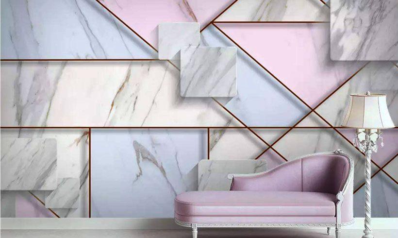 کاغذ دیواری سه بعدی مدرن