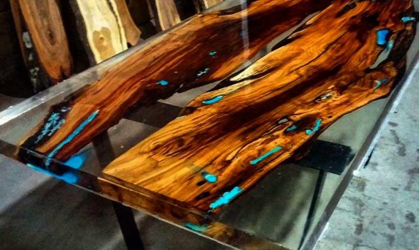 ویدئو آموزش ساخت میز چوبی با رزین اپوکسی