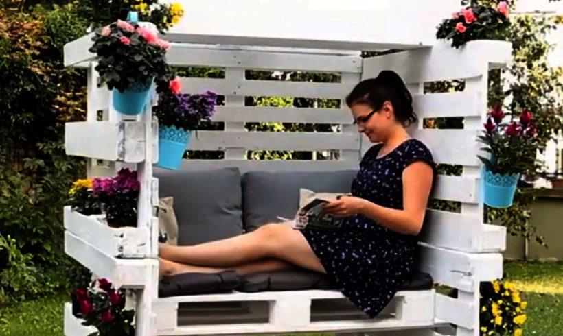 ویدئو ساخت صندلی و تخت چندمنظوره حیاط و باغ