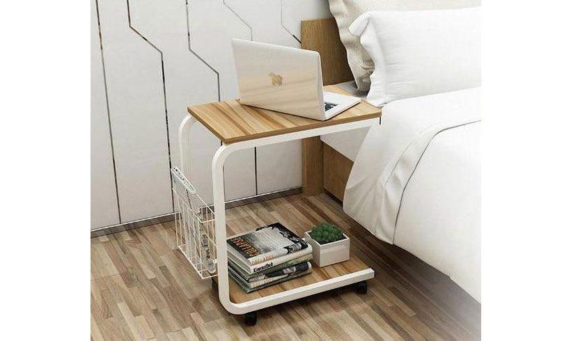 مدل میز لپ تاپ کنار تخت ساده