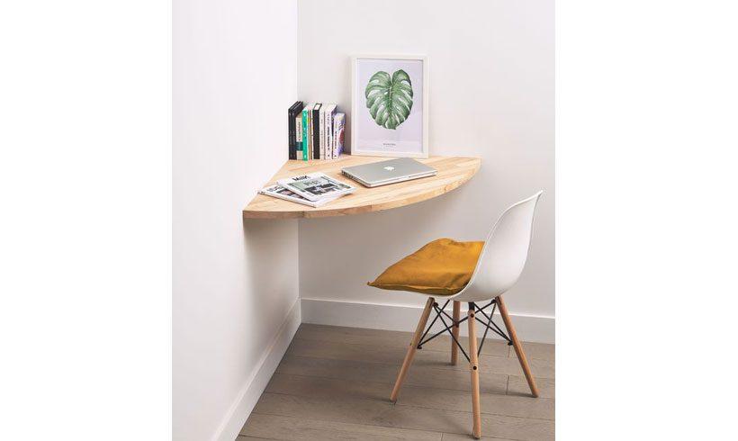 مدل میز دیواری چوبی لپ تاپ