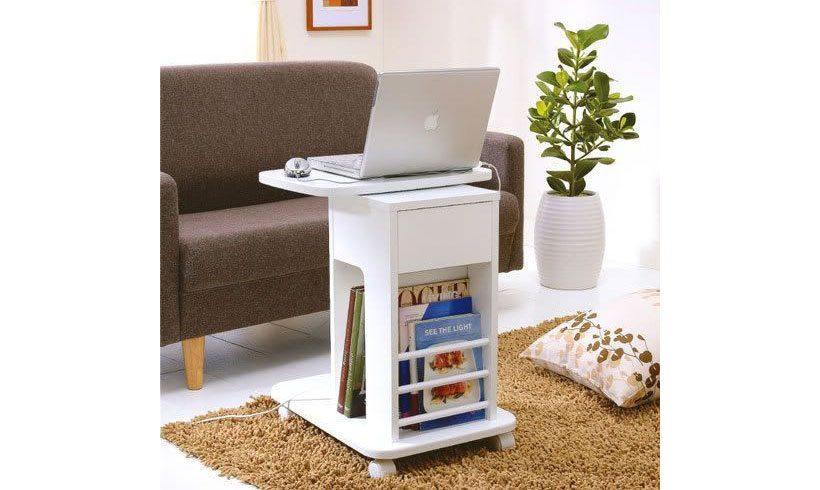 مدل میز چوبی سفید لپ تاپ
