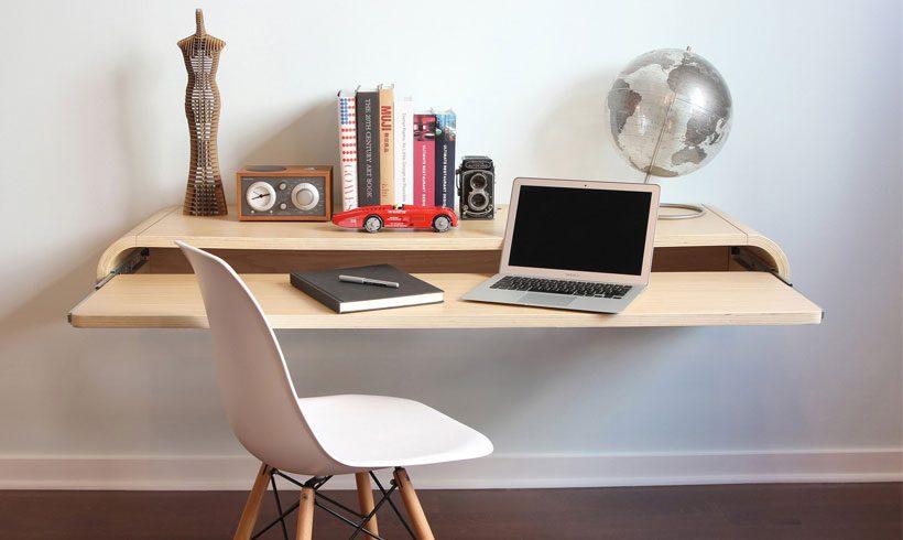 میز دیواری برای لپ تاپ مدرن