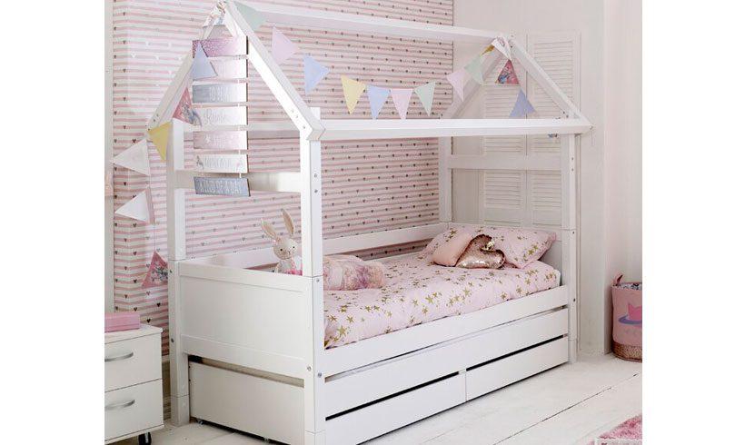 مدل تخت کودک کلبه ای