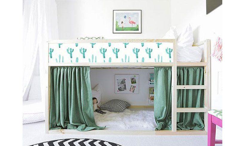 تخت کودک دو طبقه برای اتاق کوچک