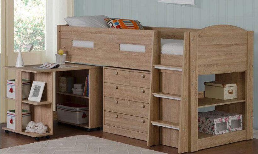 مدل تخت کودک دو طبقه کمجا