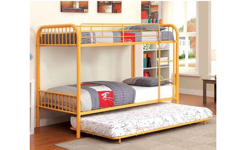 مدل تخت کودک و نوجوان دو طبقه ساده