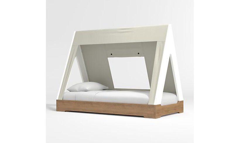 مدل تخت خوب کودک کلبه ای ساده