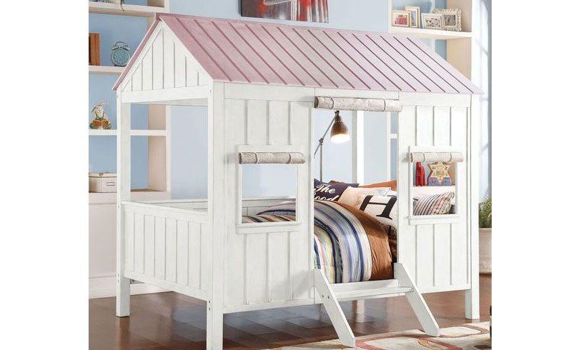مدل تخت خواب برای کودکان طرح کلبه ای