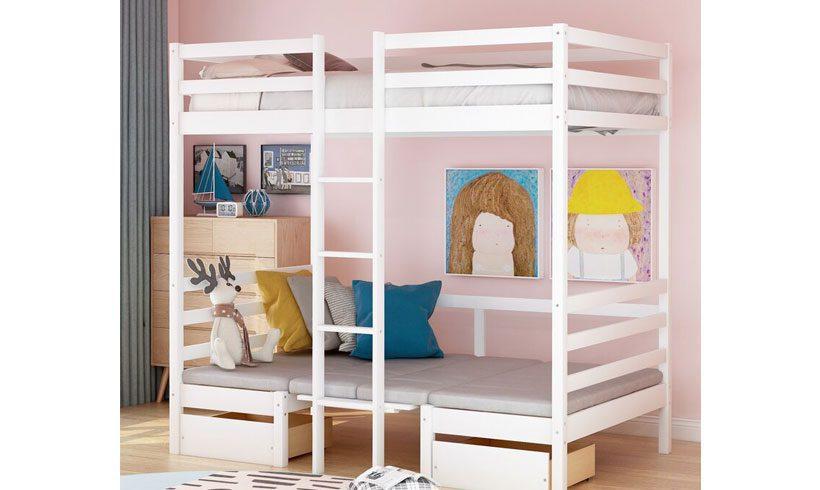 مدل تخت خواب دوطبقه ساده کودکان