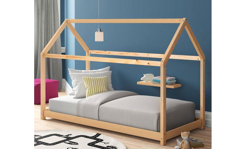 مدل تخت خوب اتاق کودک و نوجوان کلبه ای ساده