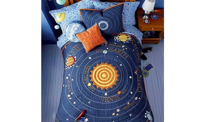 مدل رو تختی برای پسر نوجوان فضانوردی