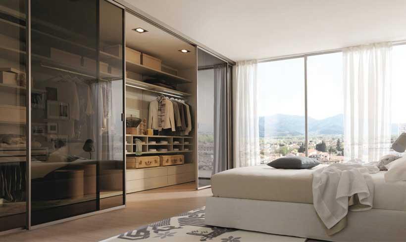 مدل طراحی اتاق لباس در اتاق خواب