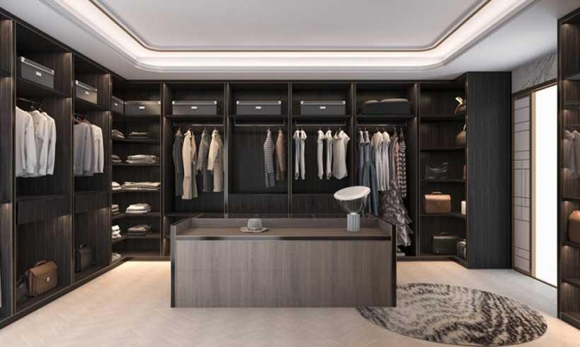 طراحی اتاق لباس لاکچری