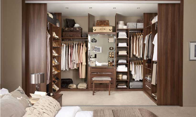 اتاق لباس در اتاق خواب