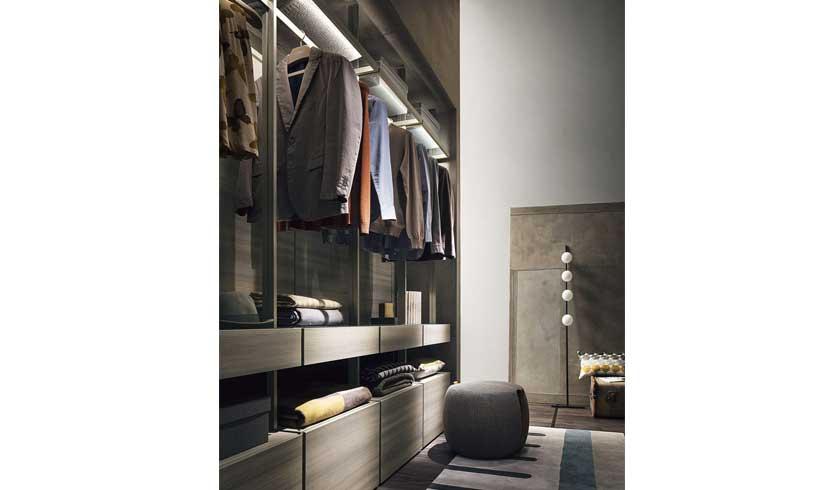 مدل طراحی اتاق لباس کوچک جدید