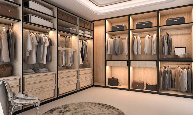 اتاق لباس مدرن در خانه