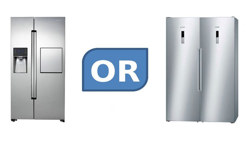 یخچال ساید بای ساید بخرم یا یخچال دوقلو ؟